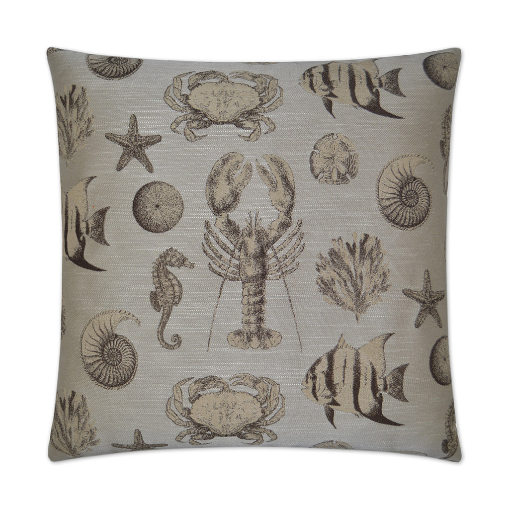 Vintage Inspired Sand Seafaring Pillow