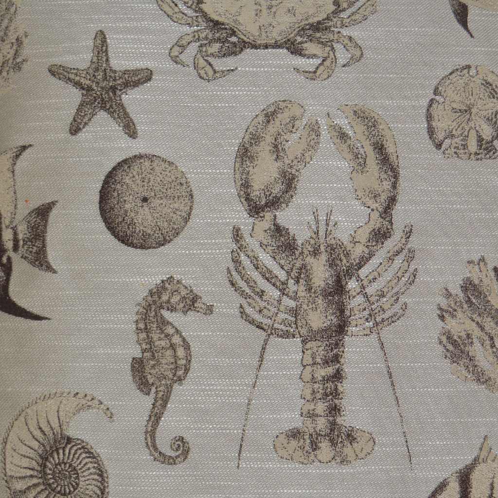 Vintage Inspired Sand Seafaring Pillow close up