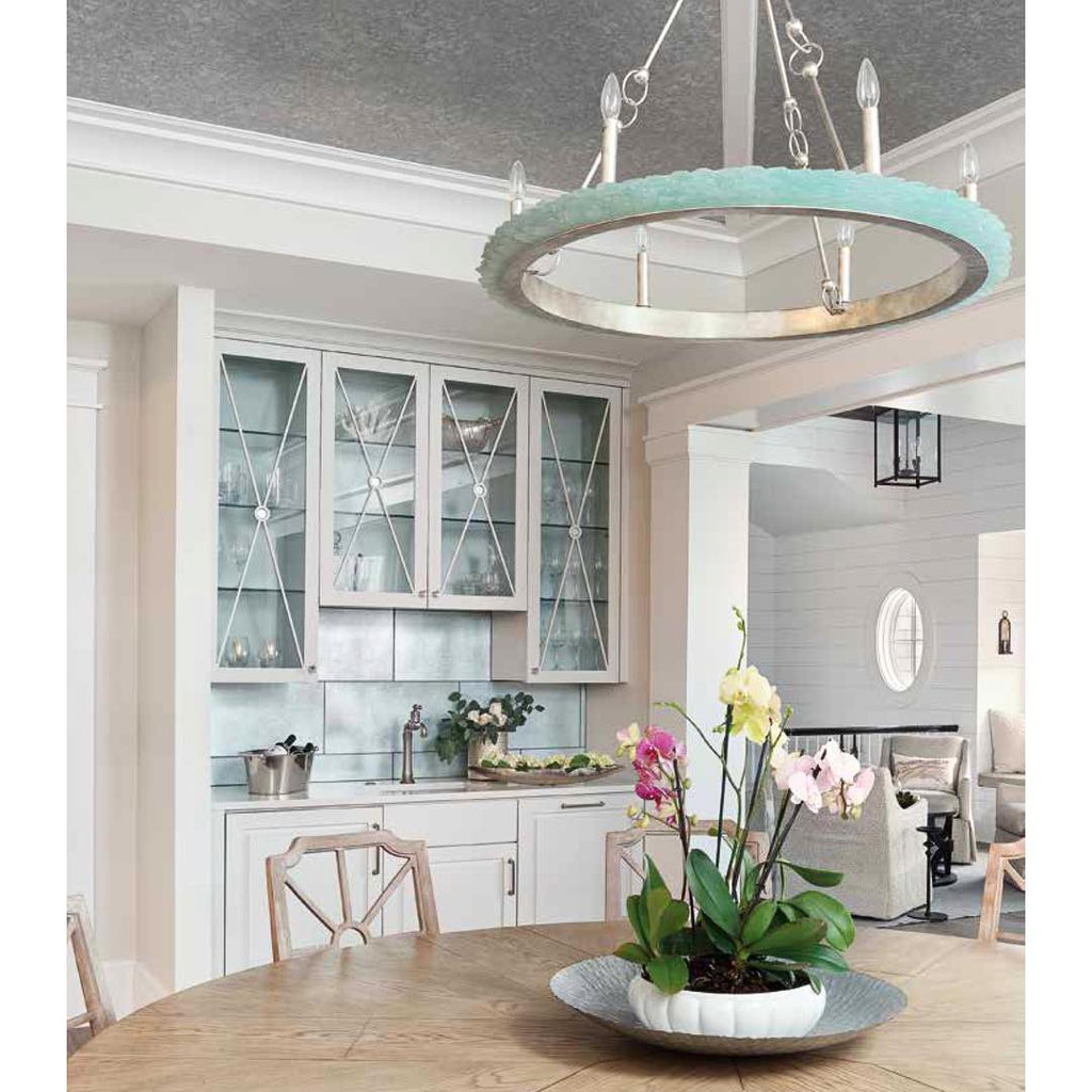 Tidewater Aqua Sea Glass Chandelier room image