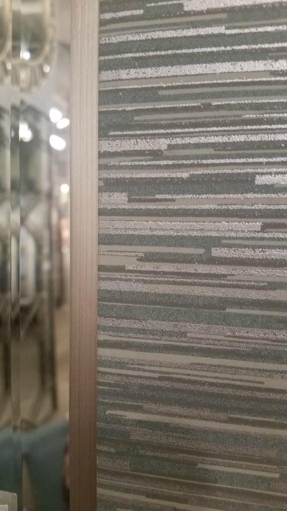 Belaya Gray-Blue Wood Mirror close up