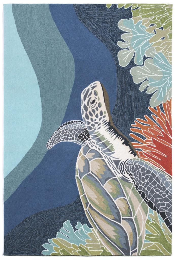 Akumal Ocean Sea Turtle Area Rug