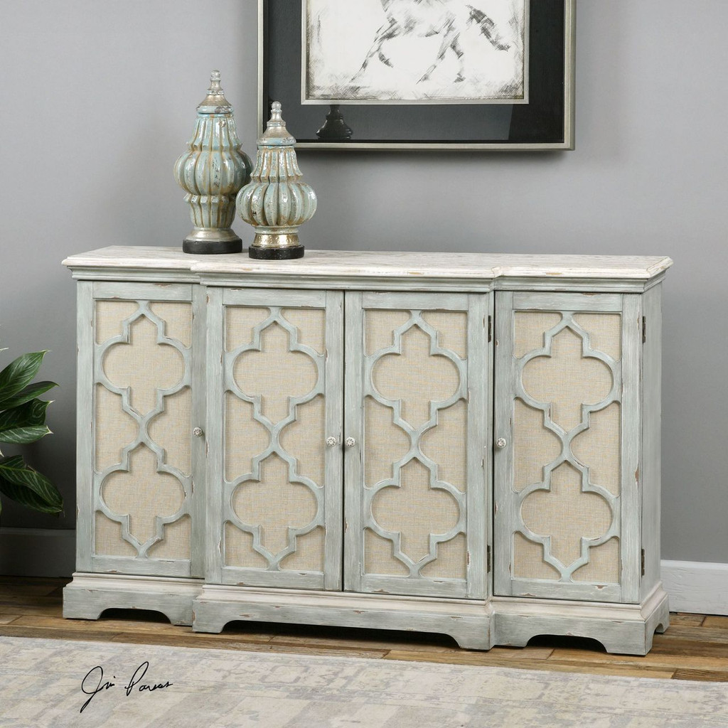 Sophie Sea Grey Coastal Cabinet room view