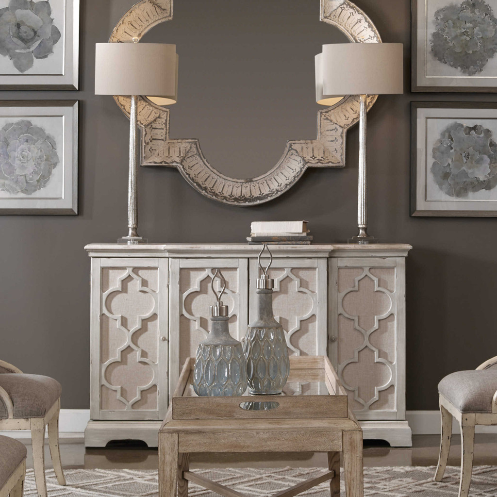 Sophie Sea Grey Coastal Cabinet room view 2