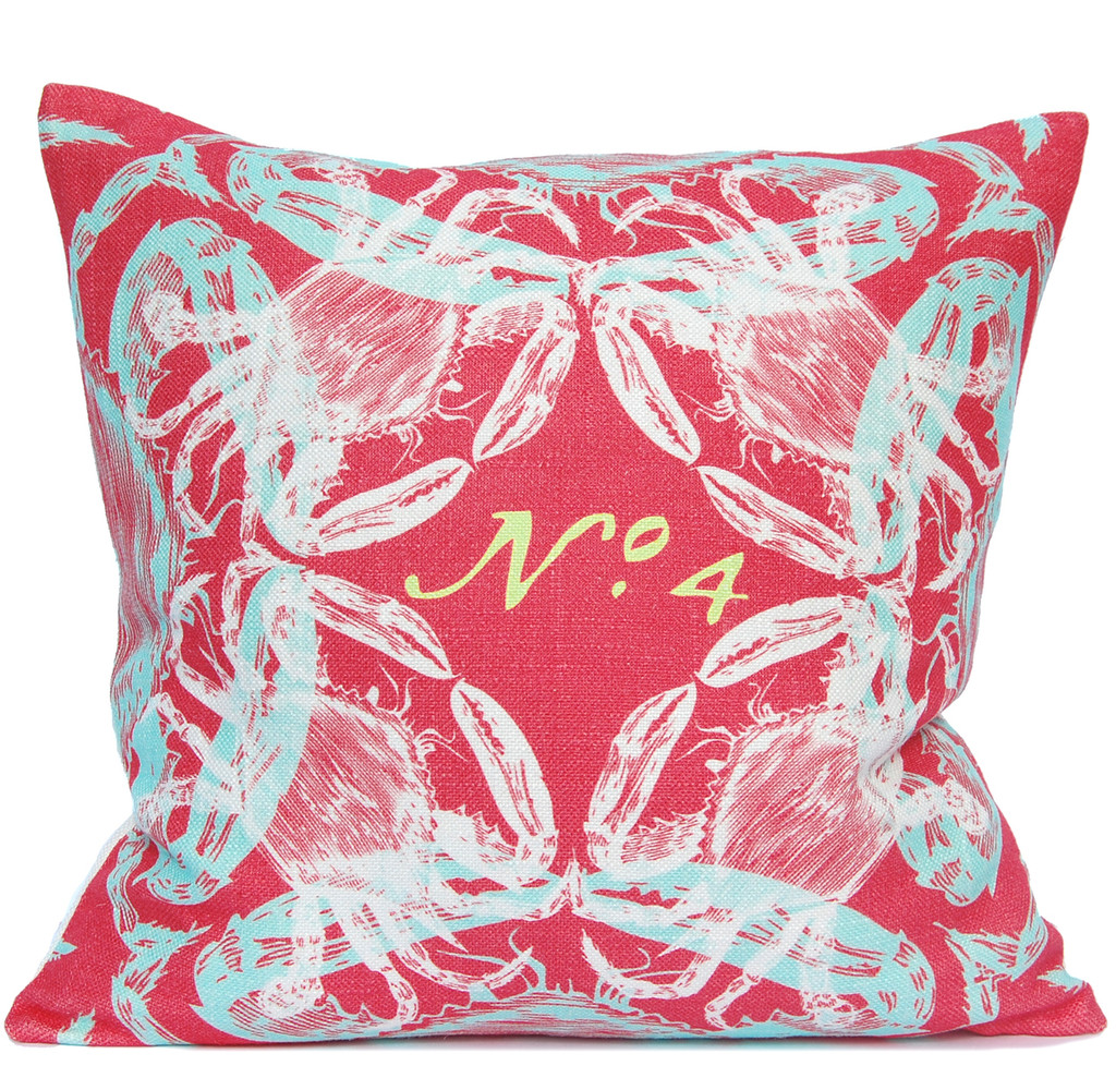 Coral Crab Luxury Pillow