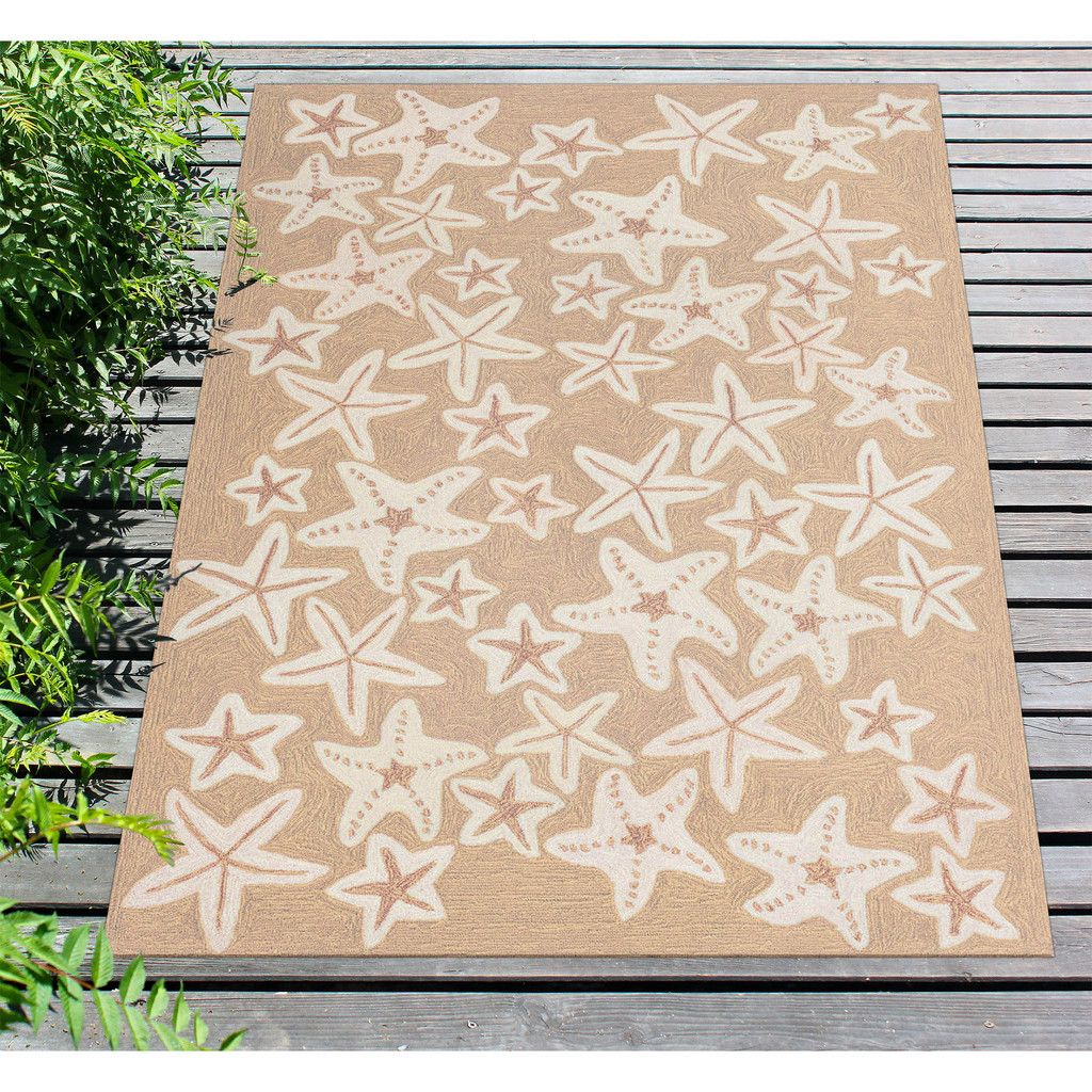 Starfish Tan and Ivory Area Rug floor image