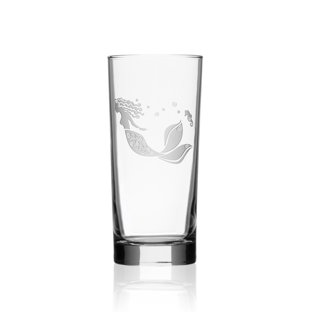 Mermaid Etched 15 oz. Cooler Glasses - single image