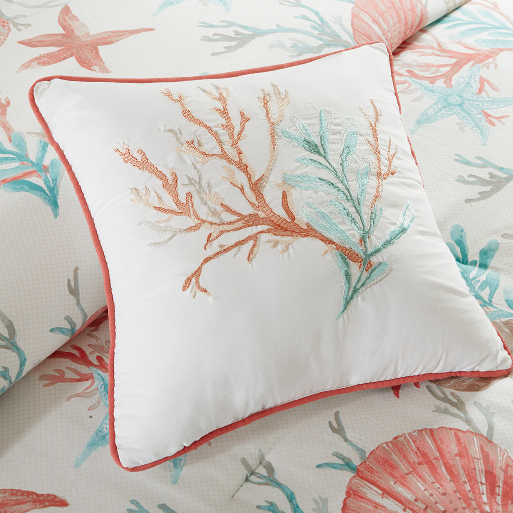 Pebble Beach Duvet Set - dec coral pilow