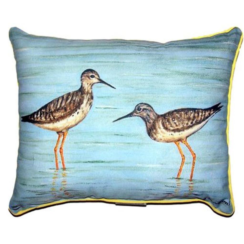 Yellowlegs Sandpiper Pillow