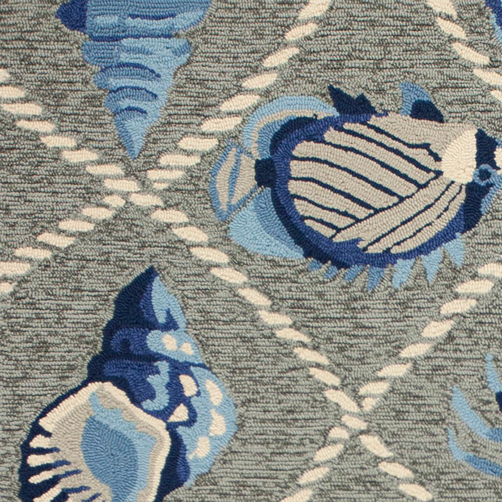 Harbor Seaside Grey Indoor-Outdoor Rug close up 2