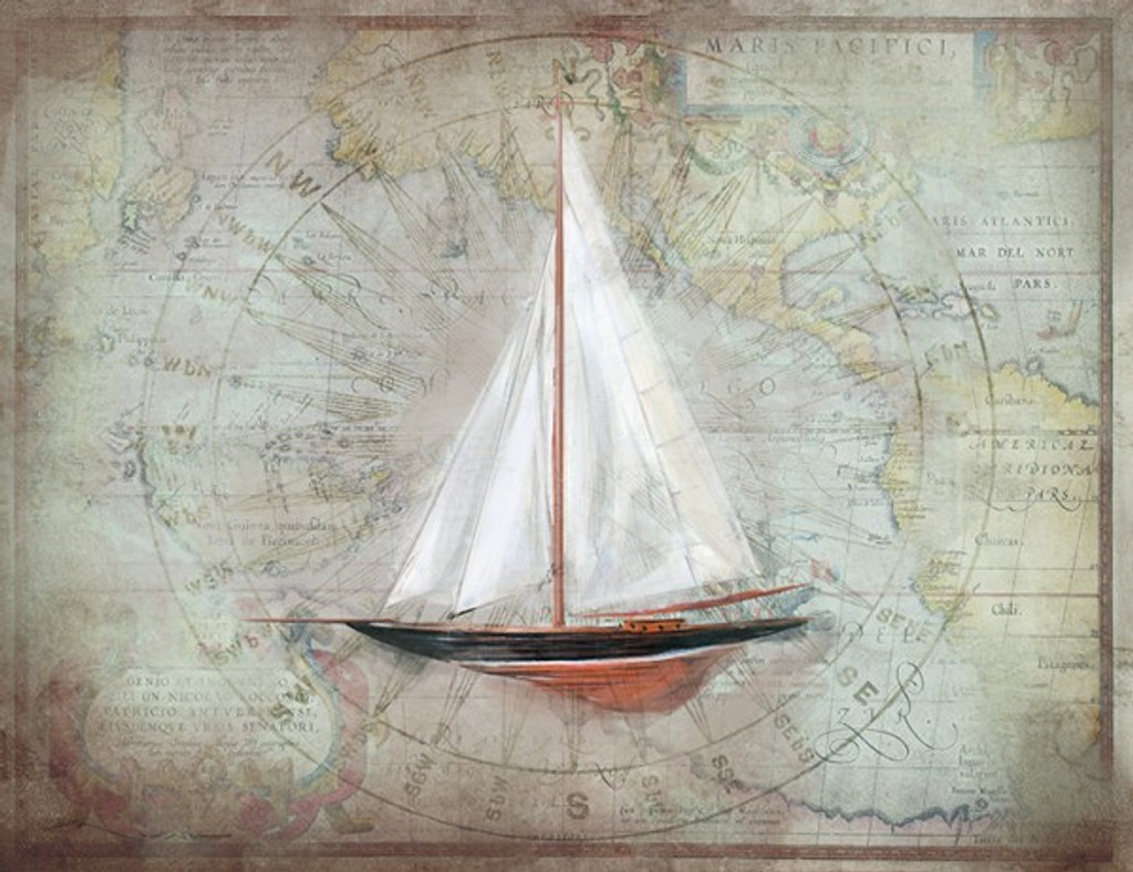 Sloop 1 Nautical Art