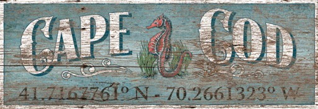 Custom Latitude-Longitude Seahorse Sign