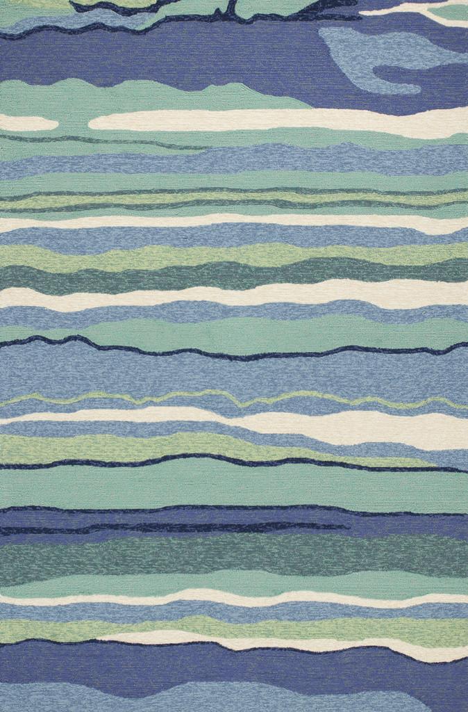 Ocean Lagoon Waves Area Rug