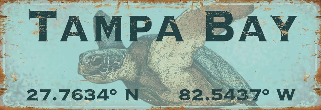 Custom Latitude-Longitude Sea Turtle Art Sign