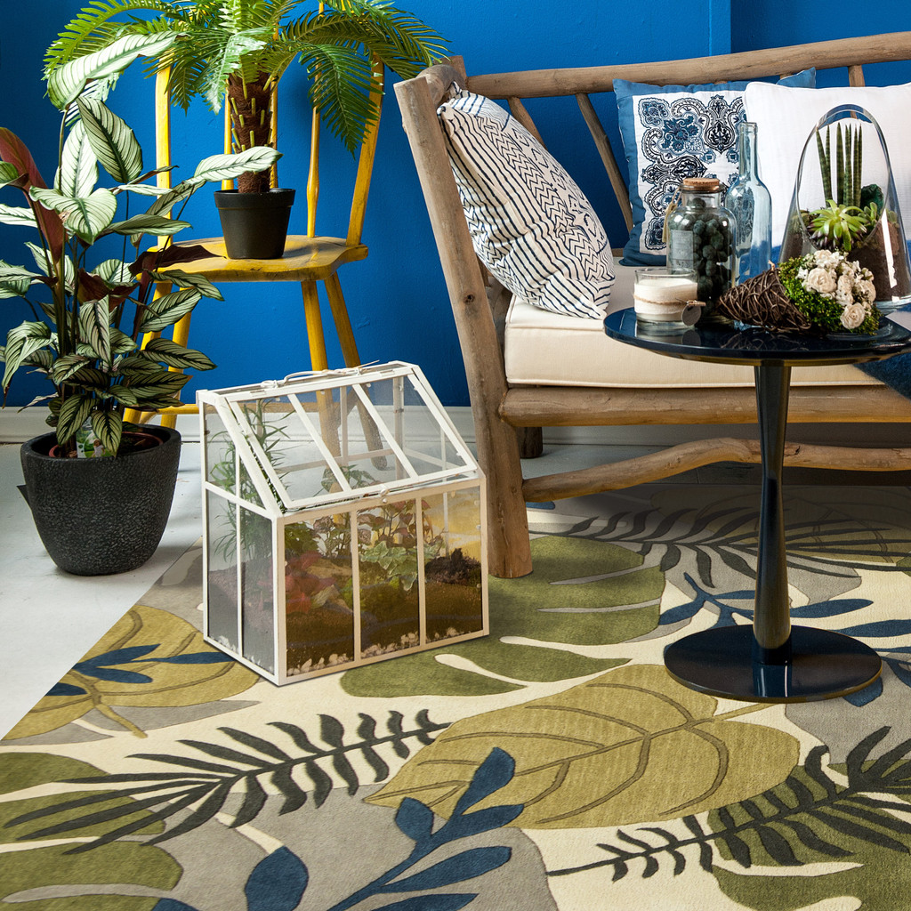 Ivory Tropical Breeze Rug room view