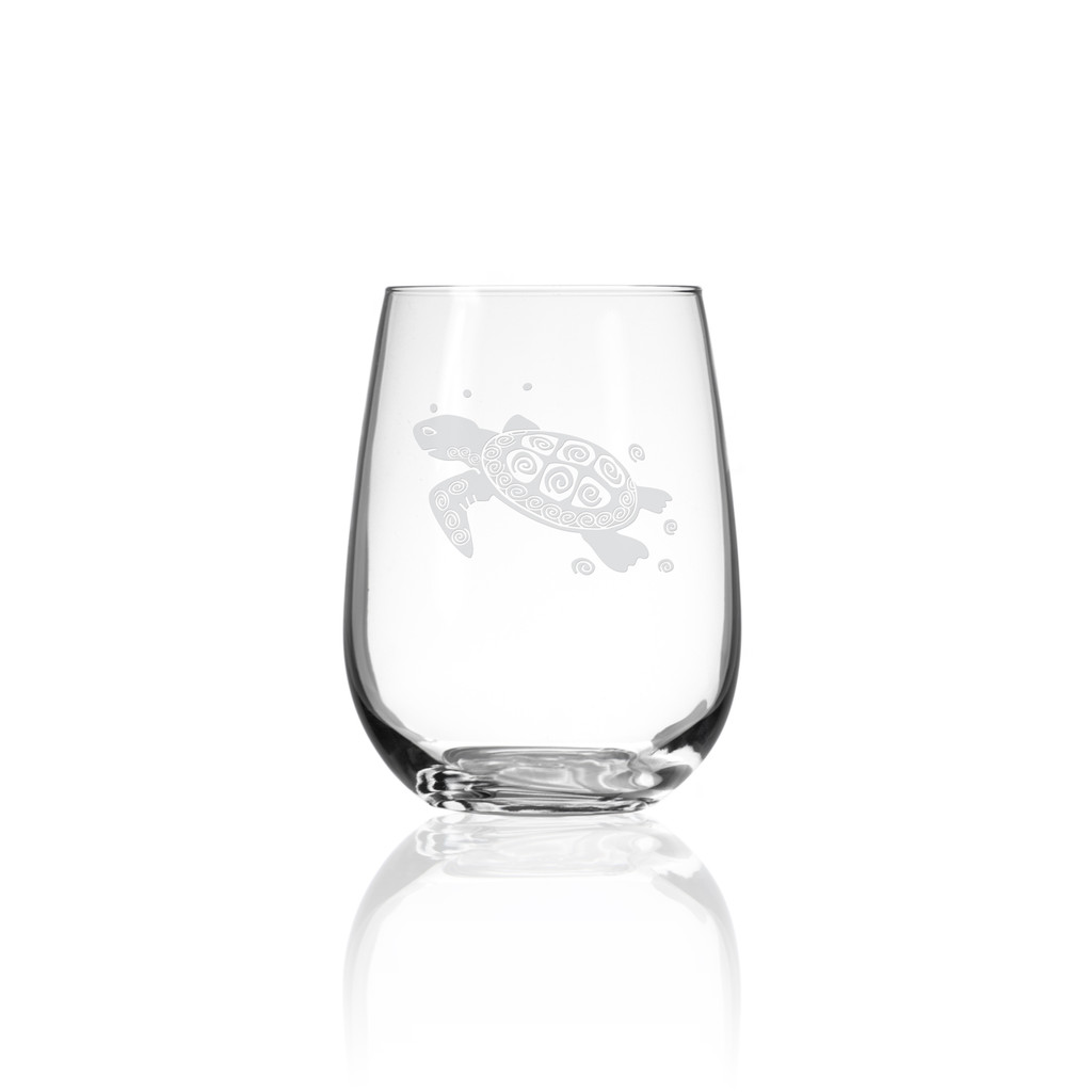 Sea Turtle Stemless Wine Tumblers - Single image