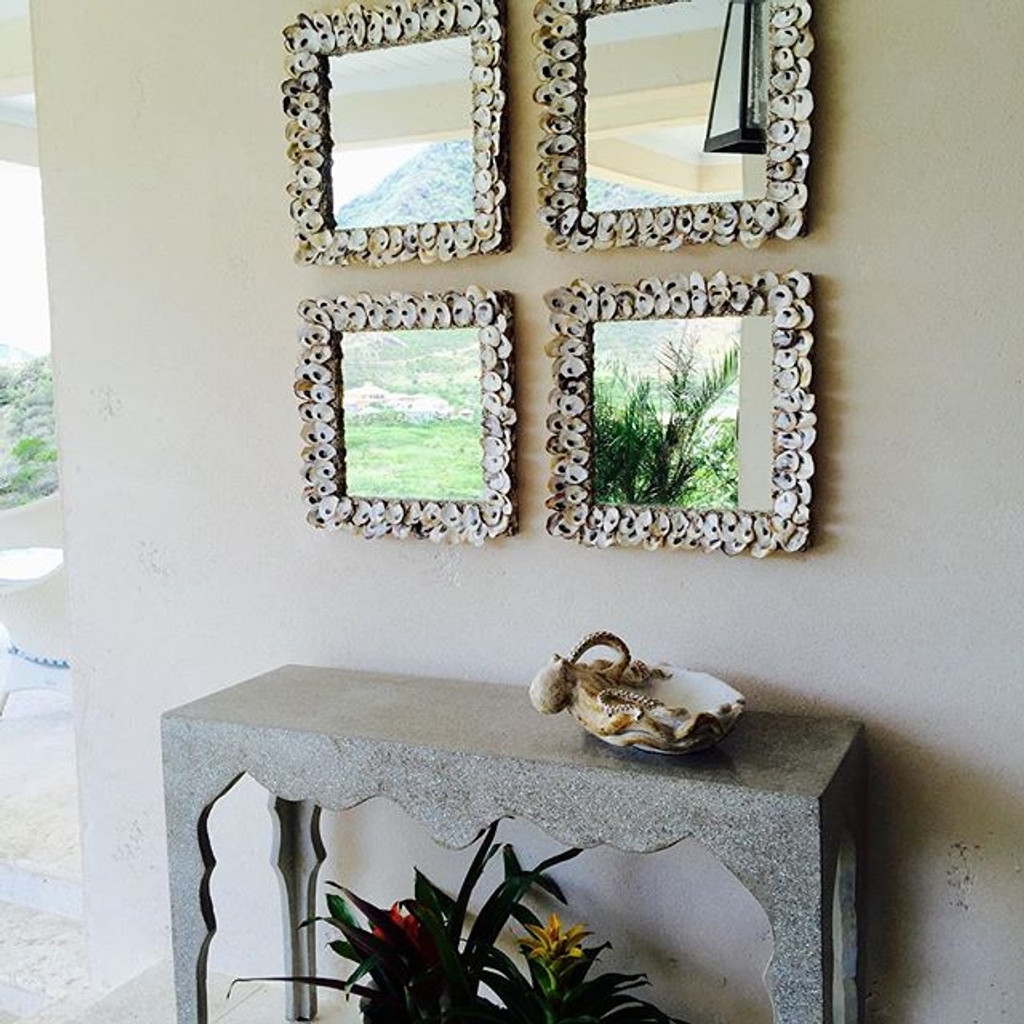 Oyster Shell Square Mirror room image