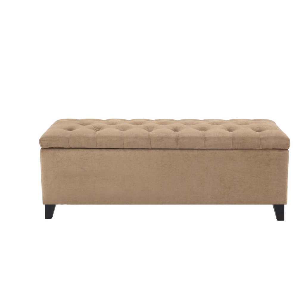 Sand Beige Tufted Storage Bench