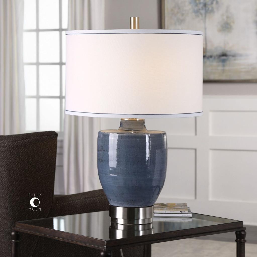 Newport Blue-Gray Glaze Lamp