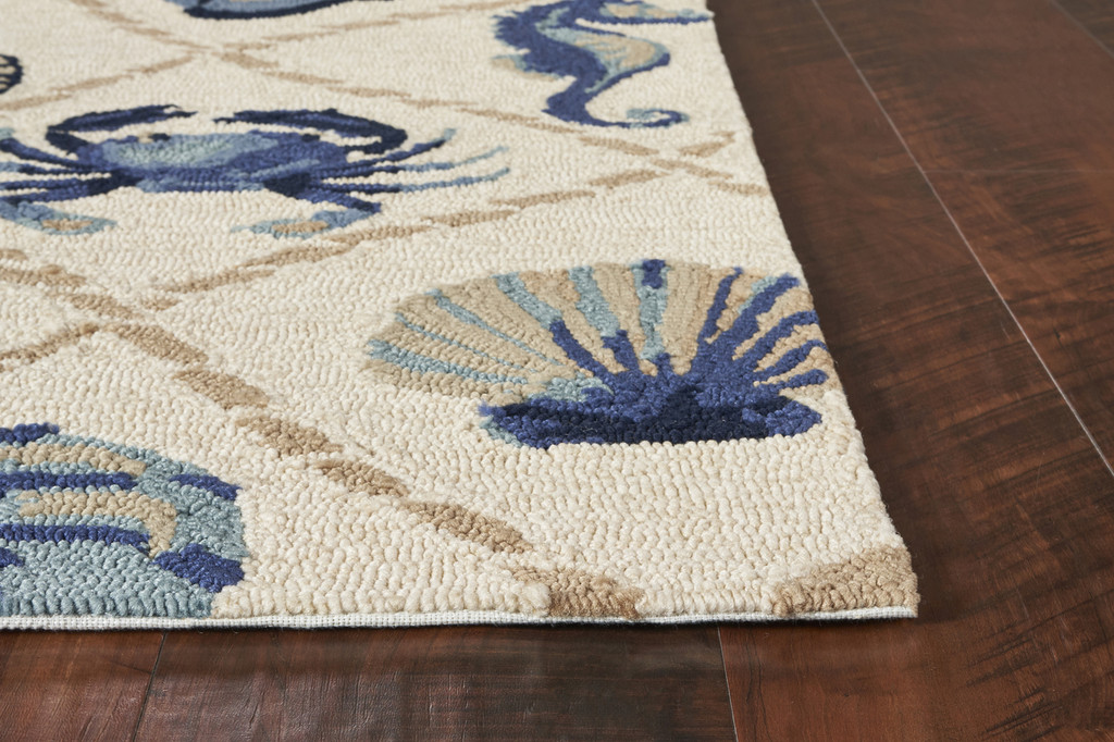 Harbor Seaside Ivory Indoor-Outdoor Rug corner image