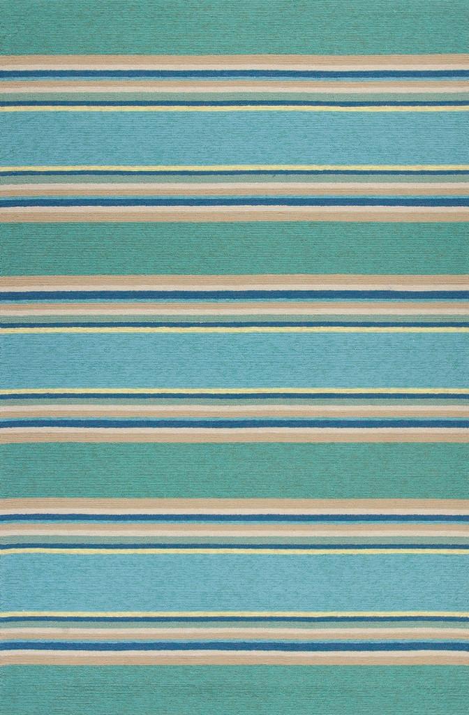 Harbor Turquoise Stripes Area Rug