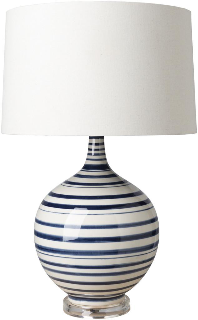 Blue Striped Tideline Lamp - light off