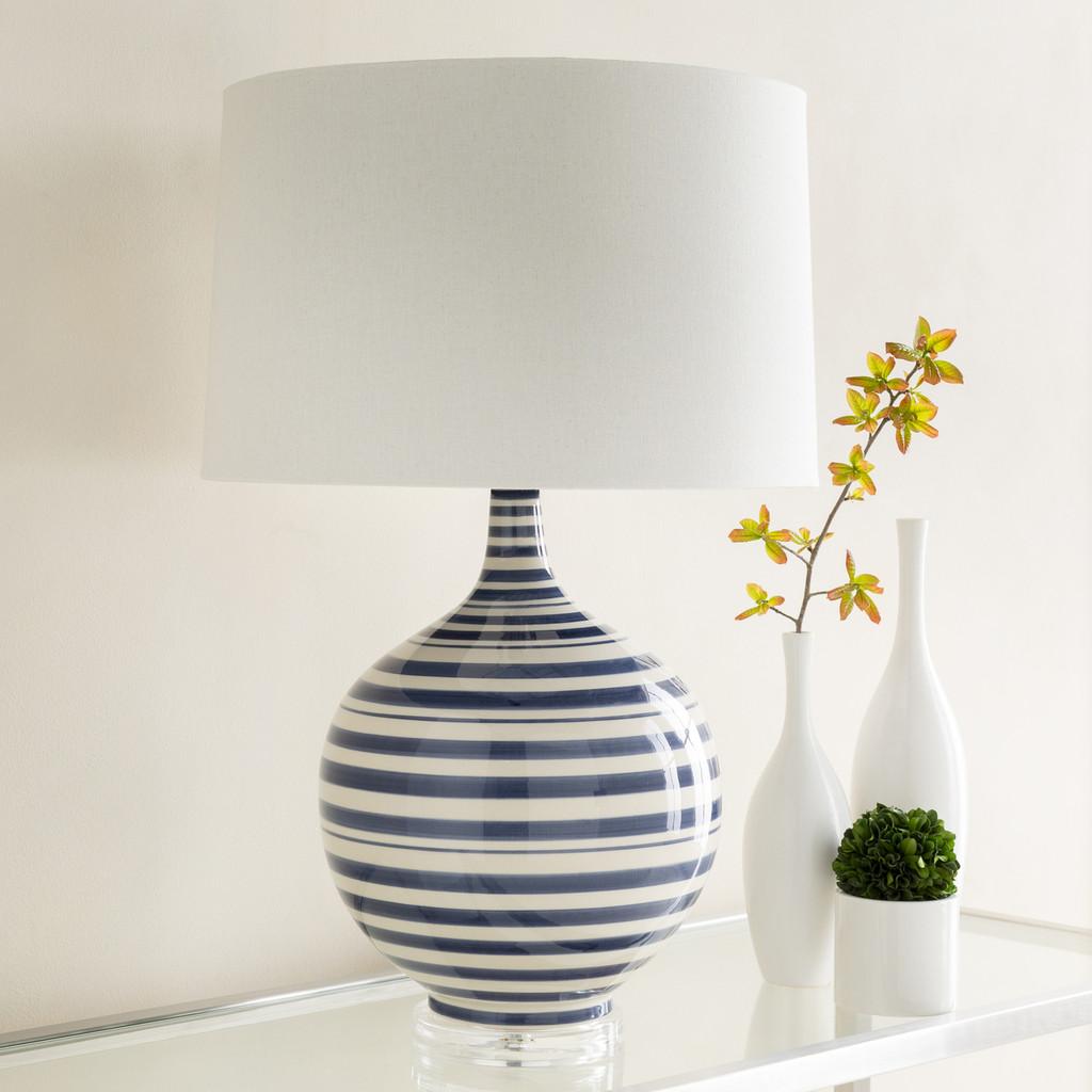 Blue Striped Tideline Lamp Room image
