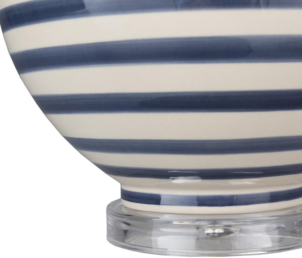 Blue Striped Tideline Lamp base