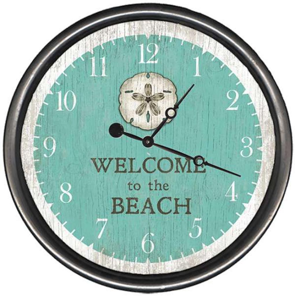 Sand Dollar Custom Welcome Beach Clock