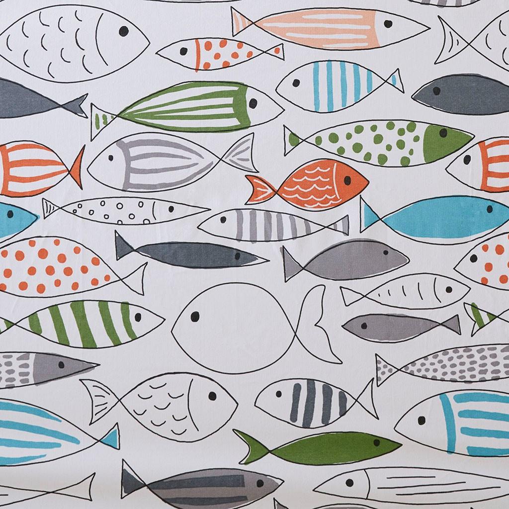 Sardinia Fishes Shower Curtain