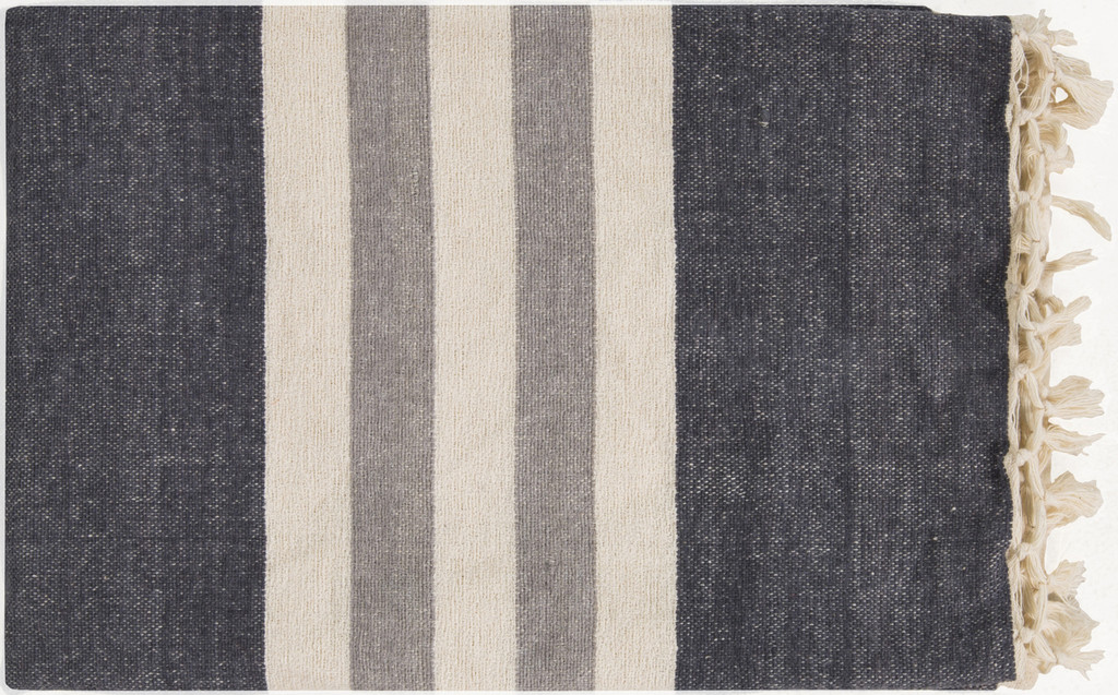 Storm Cloud Striped Throw