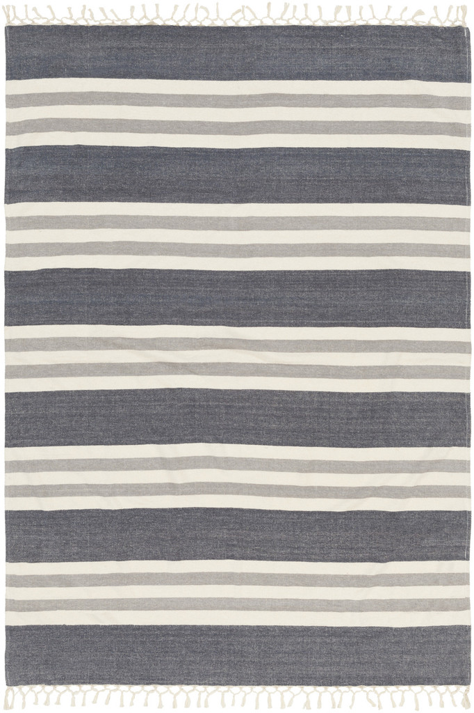 Storm Cloud Striped Throw overview shot