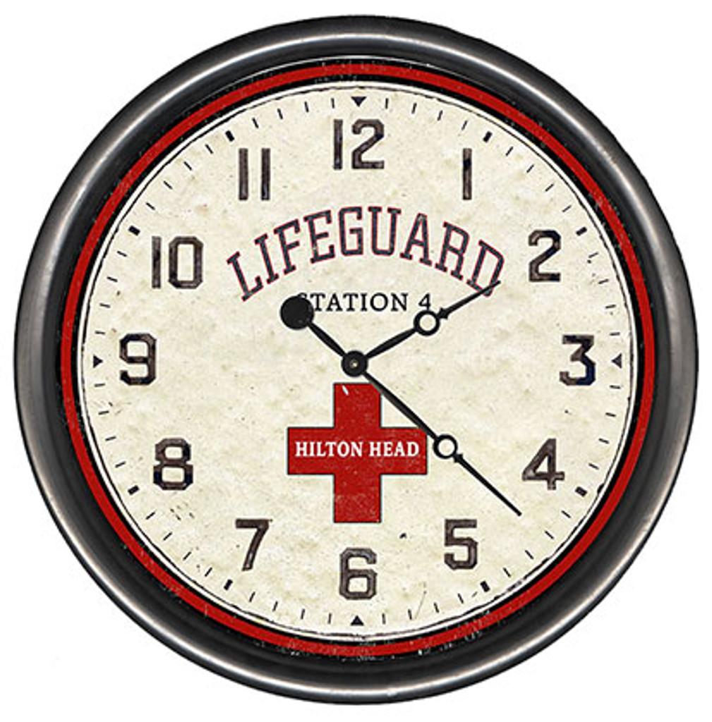 Beach Lifeguard Custom Clock