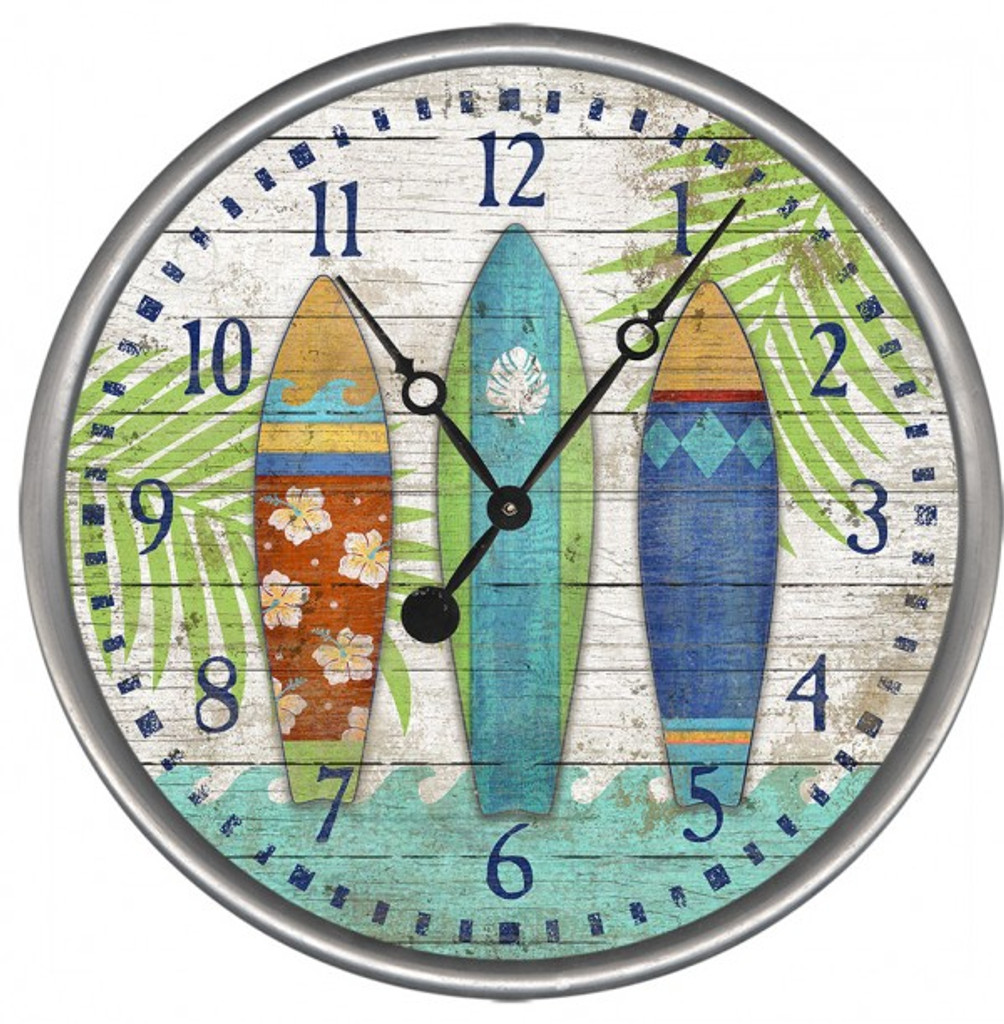 Bright Surfboards Custom Beach Clock