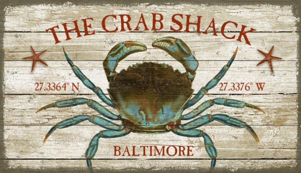 The Crab Shack Beach House Sign Custom