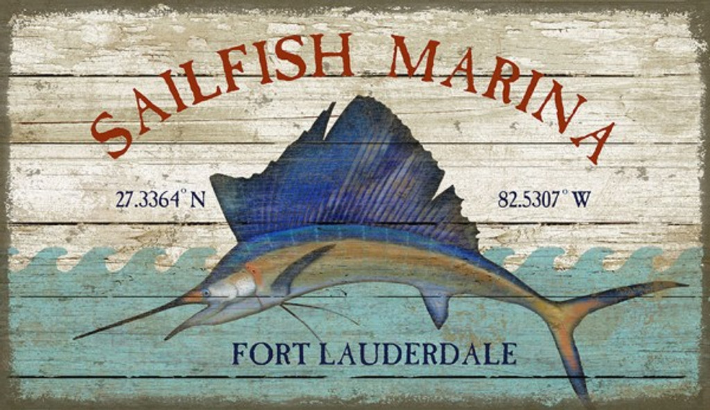 Sailfish Marina Coastal Custom Sign