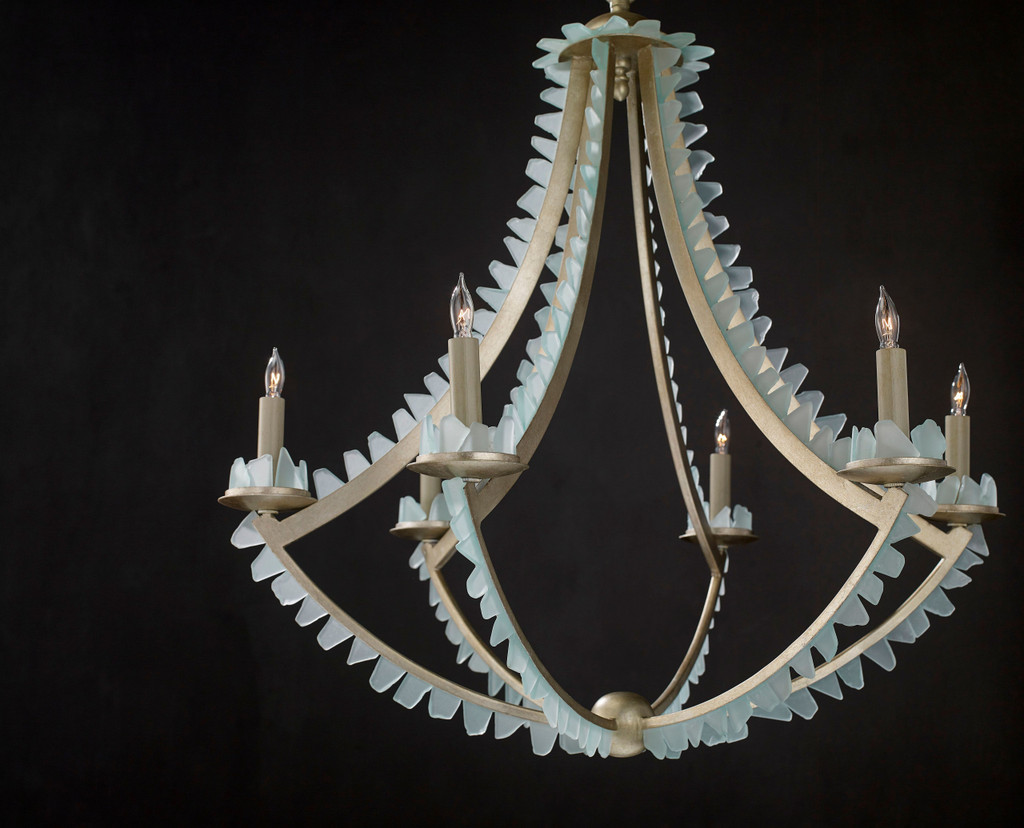 The Saltwater Silver Leaf Chandelier view 2