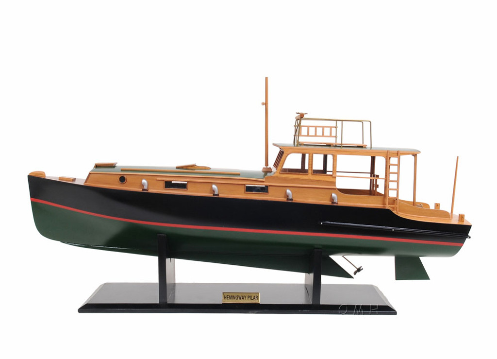 Hemingway Pilar Fishing Boat Model
