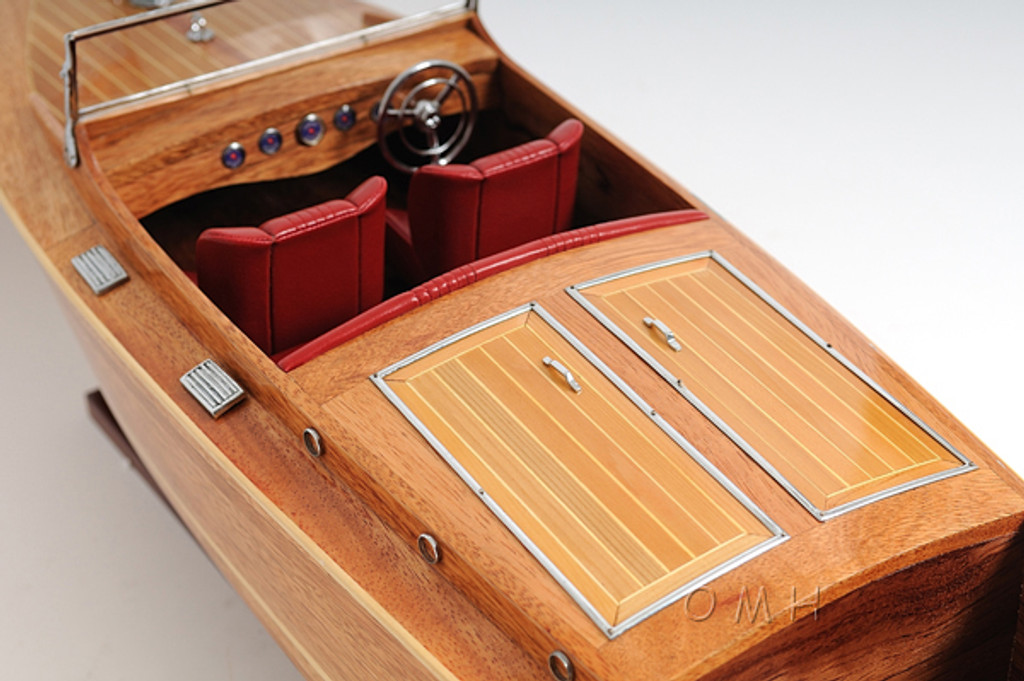 Large Chris Craft Runabout Model  close up view 2