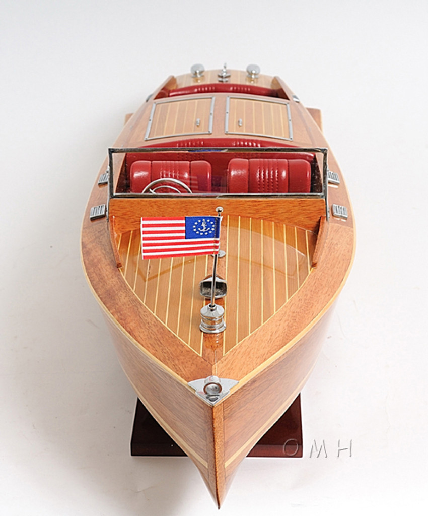 Large Chris Craft Runabout Model close up view 1