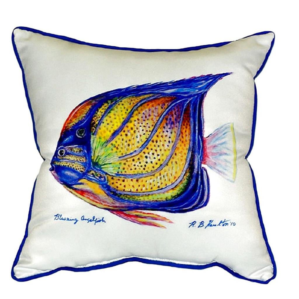 Blue Ring Angelfish Pillow