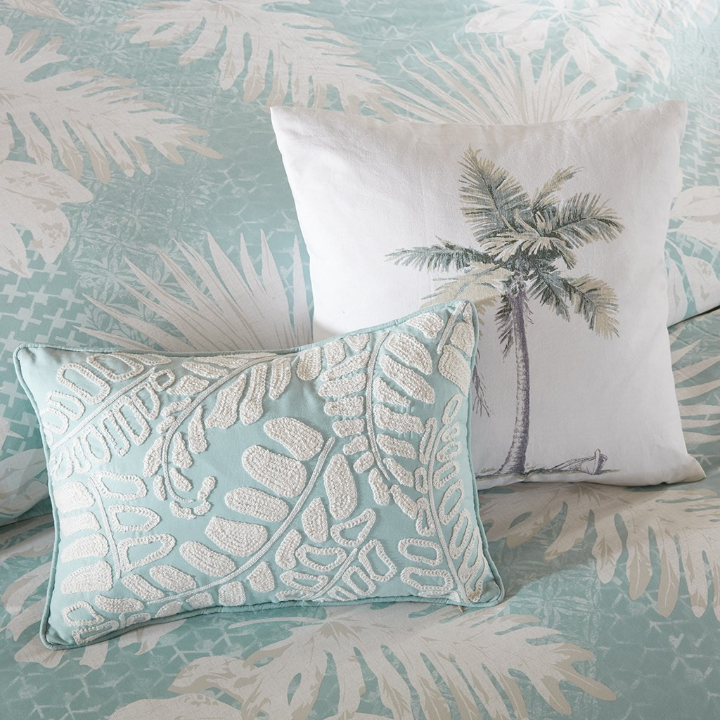 Sea Palm Grove Comforter Set - Decorative Pillows