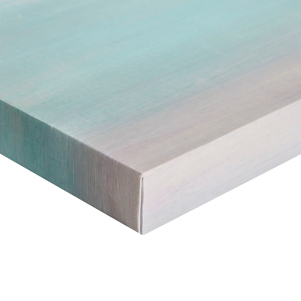 Teal Tides Gel Coat Canvas - 3 part Wall Decor close up corner