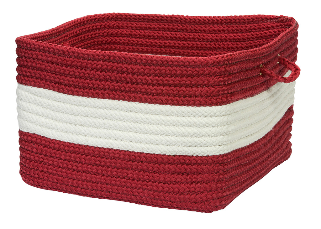 Rope Walk Red Striped Basket