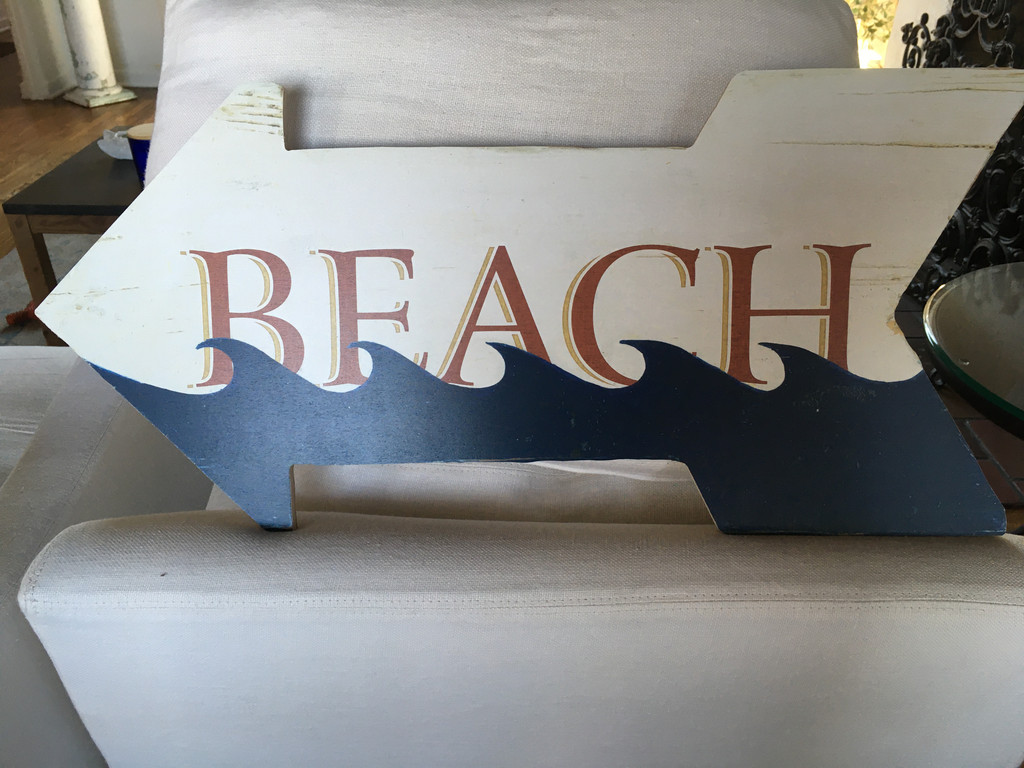 Beach Blue Wave Arrow Sign real life example