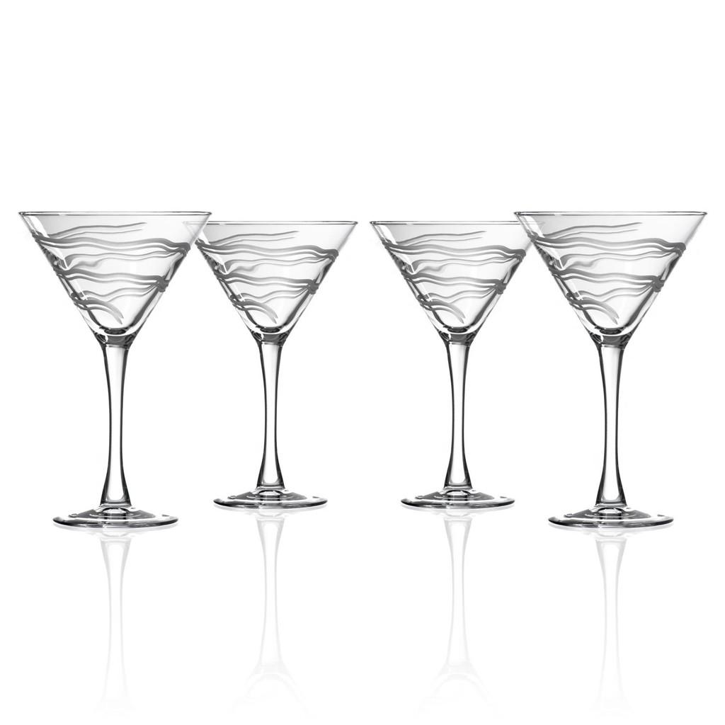 Good Vibrations Martini Glasses-Set of 4