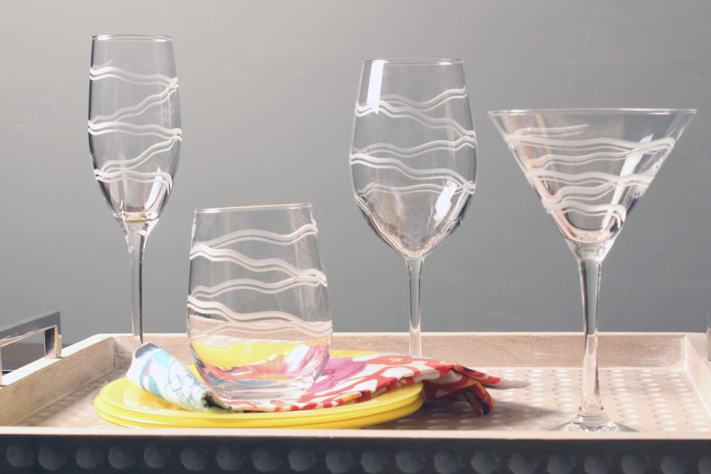 Good Vibrations Martini Glasses with group