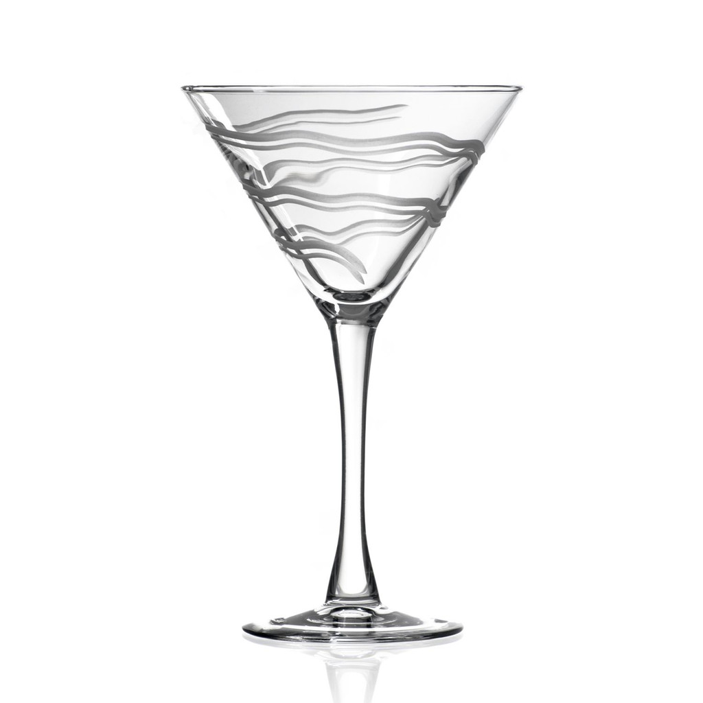 Good Vibrations Martini Glasses-Set of 4 single glass
