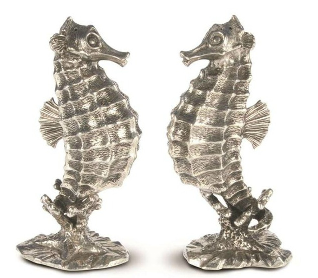 Pewter Seahorses Salt and Pepper Set