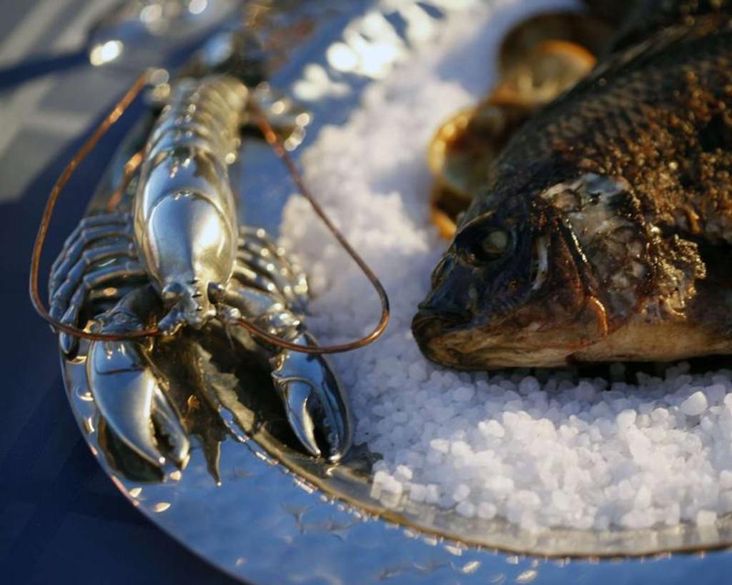 Pewter Lobster - Steel Tray