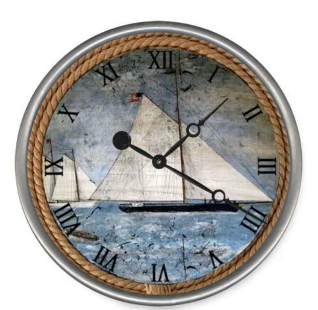 The Schooner Nautical Custom Clock